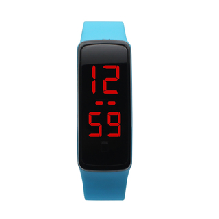 Unisex Jelly Silicone Strap Digital LED Sports Wrist Watch