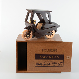 Wooden Tricycle (choco brown and natural)