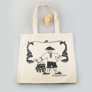 Mangingisda Bag (black print oon canvas)