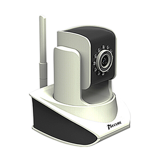 iSecure WPT10P /Pan / Tilt Wi-fi IP Camera (White)