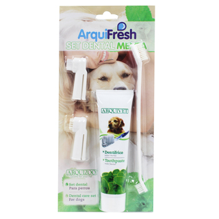 Arquifresh Dog Toothpaste and Toothbrush Dental Set