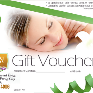Earthly Senses Spa Refresh, Relax and More Packages - Gift Certificates (Php 100)
