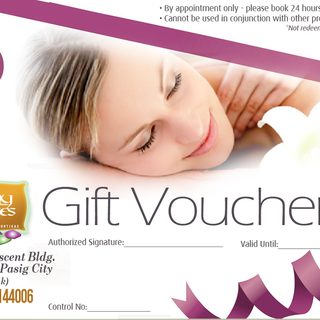 Earthly Senses Spa Refresh, Relax and More Packages - Gift Certificates (Php 500)