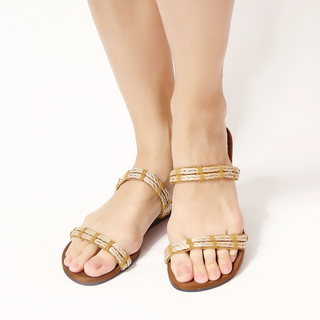 Jac&Jam	LOW WEDGE DOUBLE  STRAP SANDALS - Eggshell (JSW1-257)