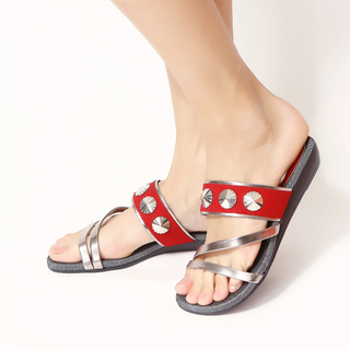 Jac&Jam	LOW WEDGE SLIDE STRAP SANDALS	- Tomato (JSW1-279)