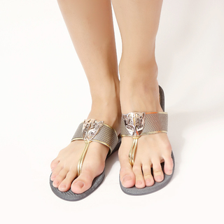 Jac&Jam	LOW WEDGE THONG SANDALS - Gray (JSW1-245)