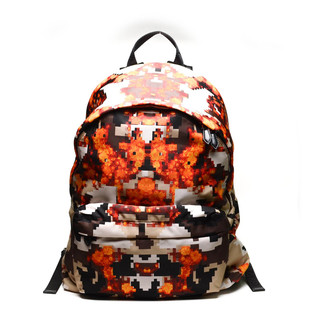 Givenchy Pixelated Flame Back Pack  (Orange/ Black)