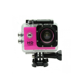 5MP Camera 1080P Video Camera Waterproof Sports Camera with 1.5 Inch LCD Monitor - Pink