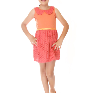 BASICS FOR KIDS GIRLS DRESS - ORANGE (G904569 - G904579)