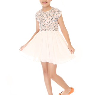 BASICS FOR KIDS GIRLS DRESS - LIGHT BROWN (G904686 - G904696)