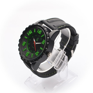JC WATCH Mens Quartz Watch - Black and Green (11153733) *WITH FREE SUNGLASSES