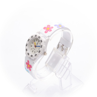 JC WATCH Unisex Quartz Analog Watch - White Floral (11151432) *WITH FREE SUNGLASSES