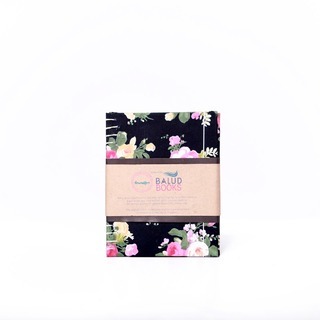 Boundfor Shabby Chic Journals (Black , Pink and Green Flowers)
