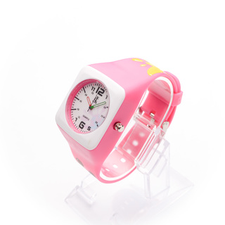 JC WATCH Unisex Quartz Analog Watch - Pink and White (11151944) *WITH FREE SUNGLASSES