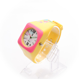 JC WATCH Unisex Quartz Analog Watch - Yellow and Pink (11151920) *WITH FREE SUNGLASSES