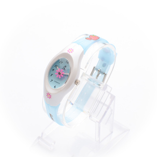 JC WATCH Unisex Quartz Analog Watch - Light Blue Floral (11151715) *WITH FREE SUNGLASSES