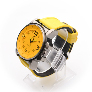 JC WATCH Mens Analog Watch -Black and Yellow (11134695) *WITH FREE SUNGLASSES