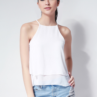 Ashley Collection Beatrice Halter Top (498-White)