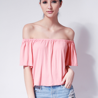 Ashley Collection Bea Off Shoulder Top (735-Peach)