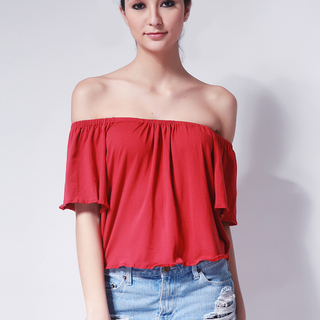 Ashley Collection Bea Off Shoulder Top (735-Red)