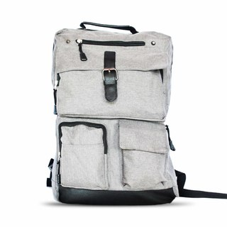 Below SRP  Multi-Pockets Casual Backpack (Gray)