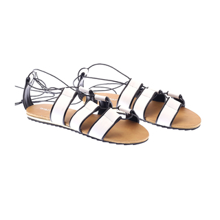 Wander Charlotte Lace-up Sandals (White) 21B