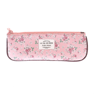 Artbox Flower Pouch Pencil Case (Pink - Brown)