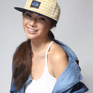 Artbox Awesome Hipster Snapback Cap (Yellow - White - Navy)