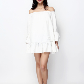 John and Frankie Store White Swansea Peasant Dress (SWANSEA.WHITE)