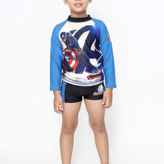 MARVEL BLUE CAPTAIN AMERICA BYS LONG SLEEVES RASHGUARD (0053)