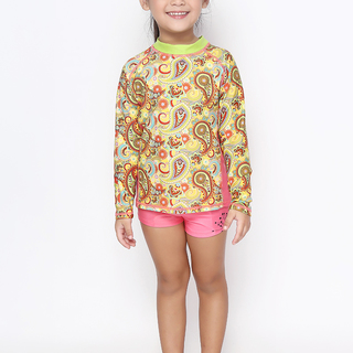 ROCK LOBSTER GIRLS YELLOW LONG SLEEVES  RASHGUARD (0218)