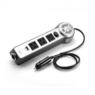 200 Watts 3 Outlet Car Power Inverter with USB Cigar Lighter