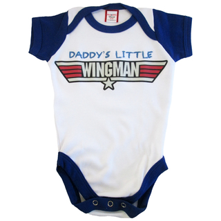 Bug and Kelly Daddy's Little Wingman Onesie