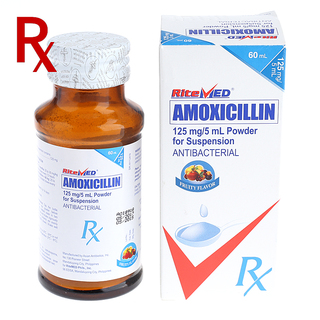 Amoxicillin 125mg 60mL (1 Bottle) Rx