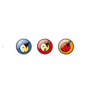 Nikidom Emoticons Fun Button Pin Set of 3 BP9109