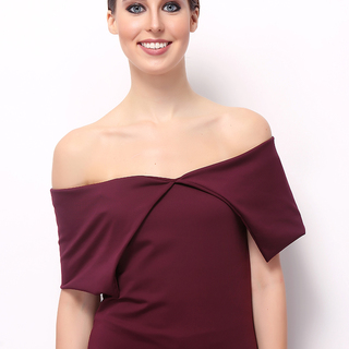 John & Frankie Store Plum  Blair Off Shoulder Top