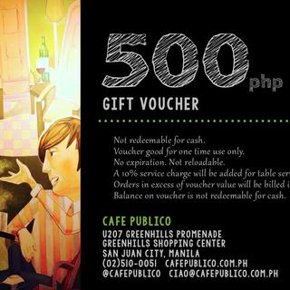 Café Publico 500php Gift Certificate