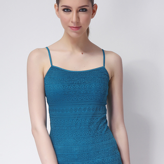 AEROPOSTALE LDS SPAGHETTI TOP BLUE GREEN (61008 )