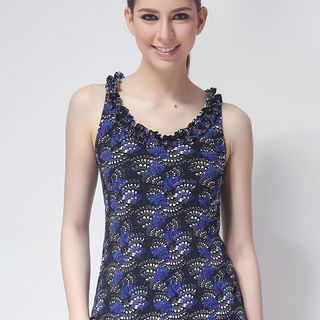FOREVER 21 LDS SLEEVELESS TOP BLUE/BLACK (48351)