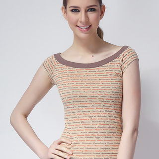 MANGO LDS TEE BLOUSE BROWN (48416)