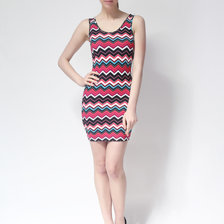 FOREVER 21 BODYCON SLEEVELESS DRESS PINK (61319)