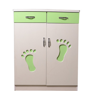 SHOE CABINET (White-Green)