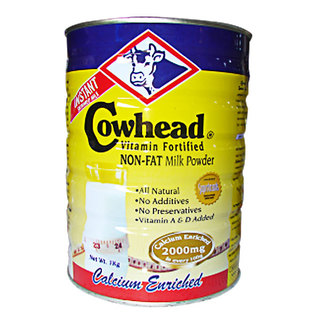 Cowhead Enriched Non Fat Powdered Milk 1kg - 8888440002998 (1450011)