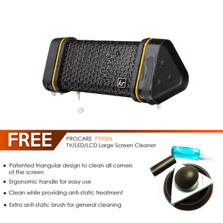 KS Gravity Portable Bluetooth Speaker (Black) with FREE Procare PT90006 LCD Large Screen Cleaner