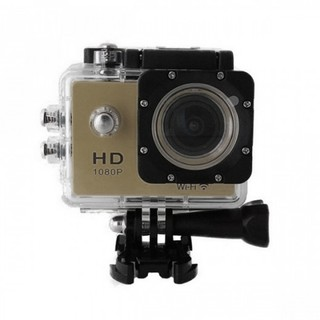 5MP Camera 1080P Video Camera Waterproof Sports Camera with 1.5 Inch LCD Monitor - Gold
