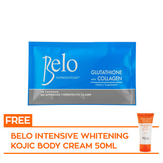 BELO NUTRACEUTICALS 10s with FREE BELO KOJIC BODY CREAM 50mL