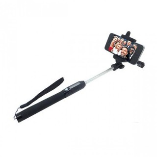 Solar Selfie Stick With Infrared Remote Shutter - Black
