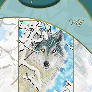 DMC INSPIRATIONS CROSS-STITCH KIT: WOLF (ECK-069)