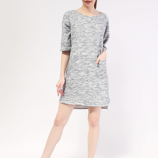Kara Single Pocket Knit Dress  from Topmanila Clothing (Light Gray)