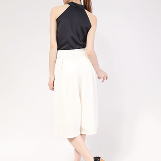 Black Pearl Haltered Top and White Culottes -Neo Prene from Topmanila Clothing (Black Top and White Culottes)